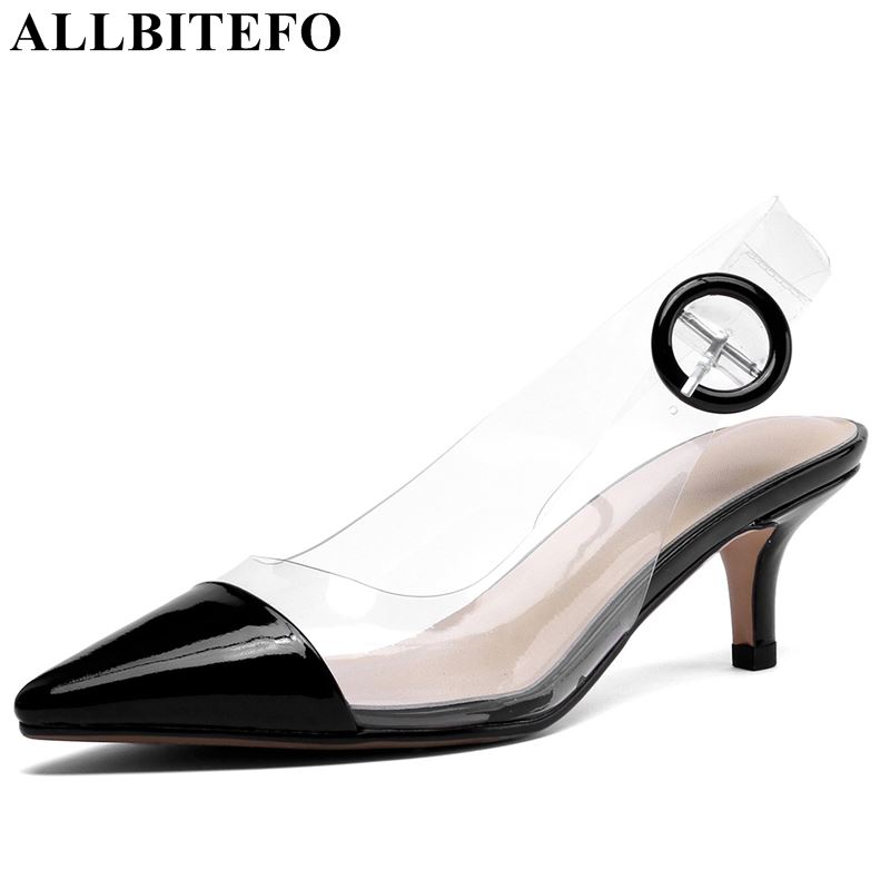 ALLBITEFO 2019 new arrive women sandals fashion high heels sexy heels women shoes summer sandals ladies girls slipper-in Slippers from Shoes    1