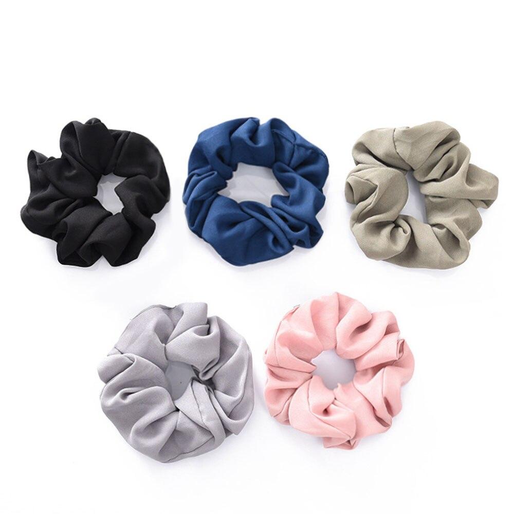 Rope Headwear Hair-Holder Ponytail Hair-Tie-Scrunchie Chiffon Classical-Design Women