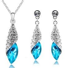 Ожерелье с подвеской из австрийского кристалла, серьги, Модный Ювелирный Набор, модный подарок,, Прямая поставка, акция, скидка, качество