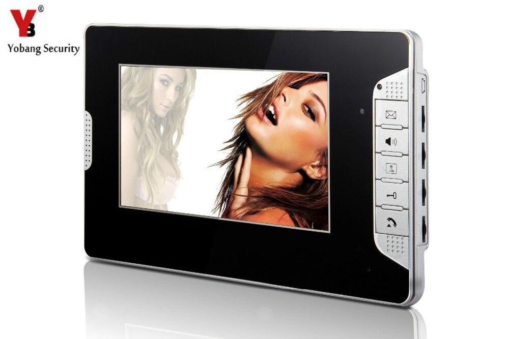 Yobangsecurity черный 7 дюймов Цвет TFT ЖК-дисплей Экран Мониторы проводной видео Дверны ...