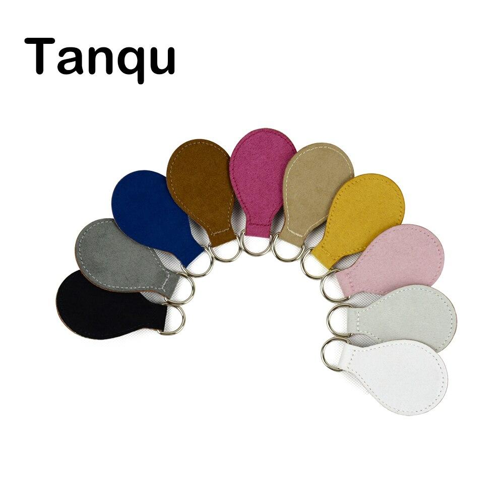 TANQU 2017 New 2 Pair 4 Pc Leather cashmere Drop End for Obag Handle Flannel Drop Attachment for O Bag Obasket DIY Women Bag цена 2017