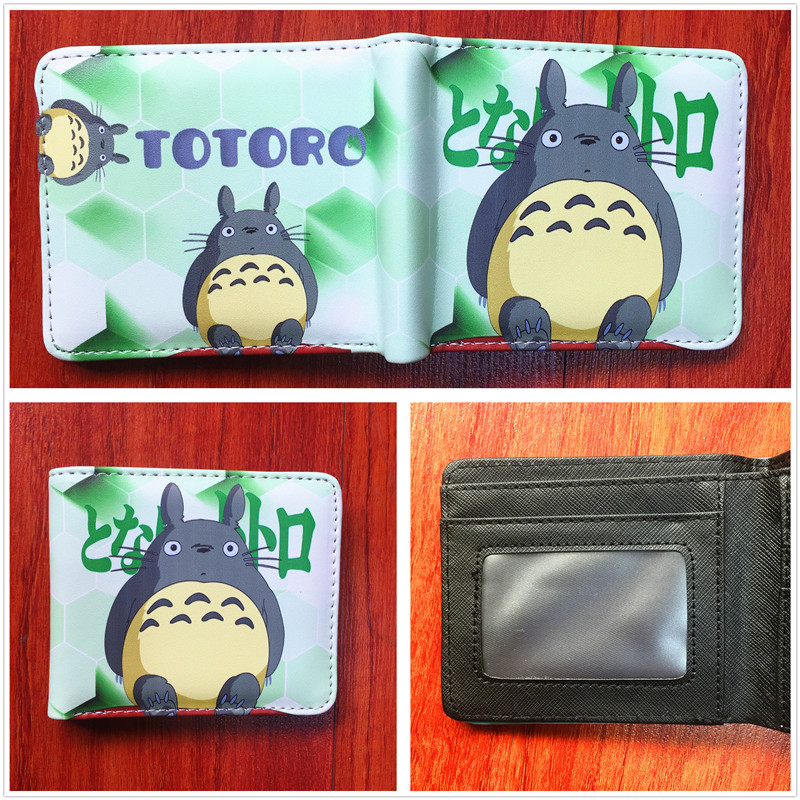 anime My Neighbor Totoro Wallet PU Leather Slim Purse Young Boys Girls Student Short wallet short purse W497