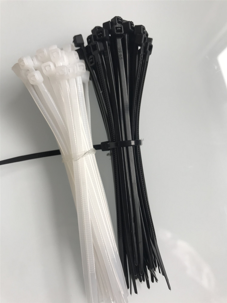 "100pcs 4.3/"" Winged Nylon Plastic Cable Zip Ties Cord Wrap Wire Strap White"
