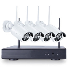 Safurance 4PCS 4CH CCTV Wireless 720P NVR DVR 1.0MP IR Outdoor P2P Wifi IP Security Camera Video Surveillance Home Security