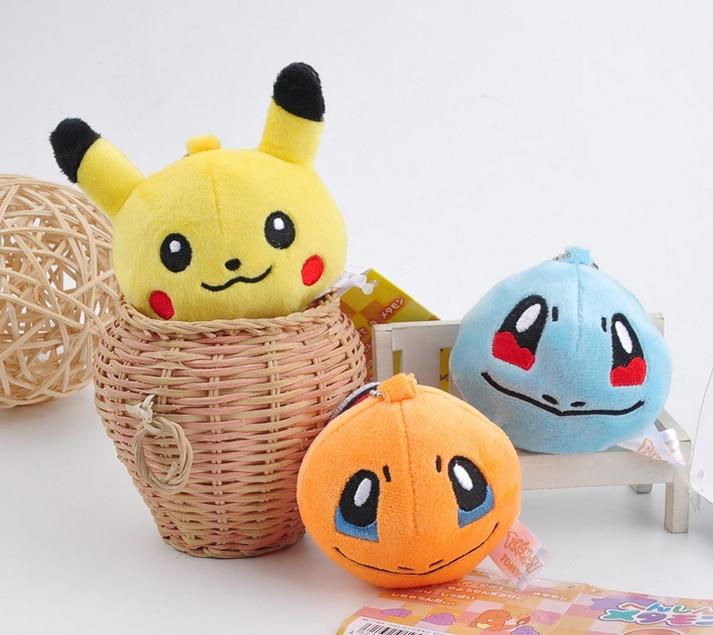 7CM Pikachu Plush Stuffed Toy Doll Kid's Party Keychain Gift Plush Toys Decor Pendant Toy B0893