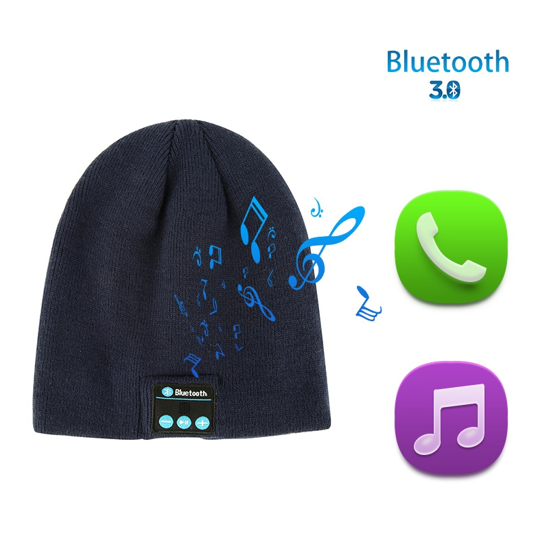 New Soft Winter Warm Beanie Hats for Women Men Unisex 2018 Wireless Bluetooth Smart Cap Headphone Speaker Mic Bluetooth Hat S4