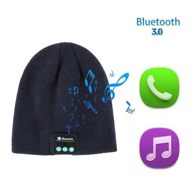 b325dc265a69c New Soft Winter Warm Beanie Hats for Women Men Unisex 2018 Wireless  Bluetooth Smart Cap Headphone