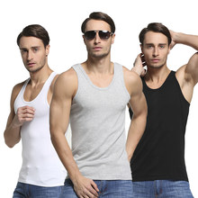 Men Cotton Undershirt Male Sleeveless Muscle Vest Seamless Underwear Clothing Fitness Gym Clothes for Summer 2019(China)