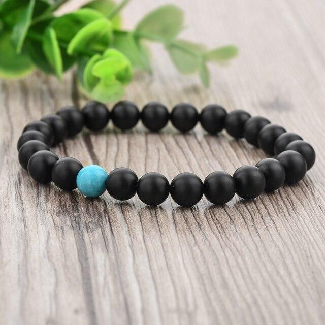 Chicvie синий черный этнические бусины из натурального камня