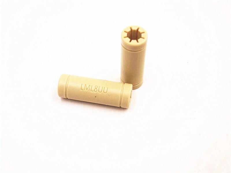 Funssor 1pcs Solid Polymer LM8UU Linear Bearings Bushing LM8LUU 8MM Prusa Mendel DIY CNC Motion LML8UU  8*15*45 Mm