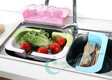 Candy-colored Storage Rack Scalable Storage Rack Drain Storage Rack Kitchen Tools 2016 New