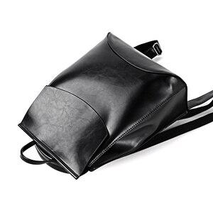 Image 3 - Mochila De piel de alta calidad para mujer, morral moderno de piel para chicas adolescentes, bolso de hombro de colegio