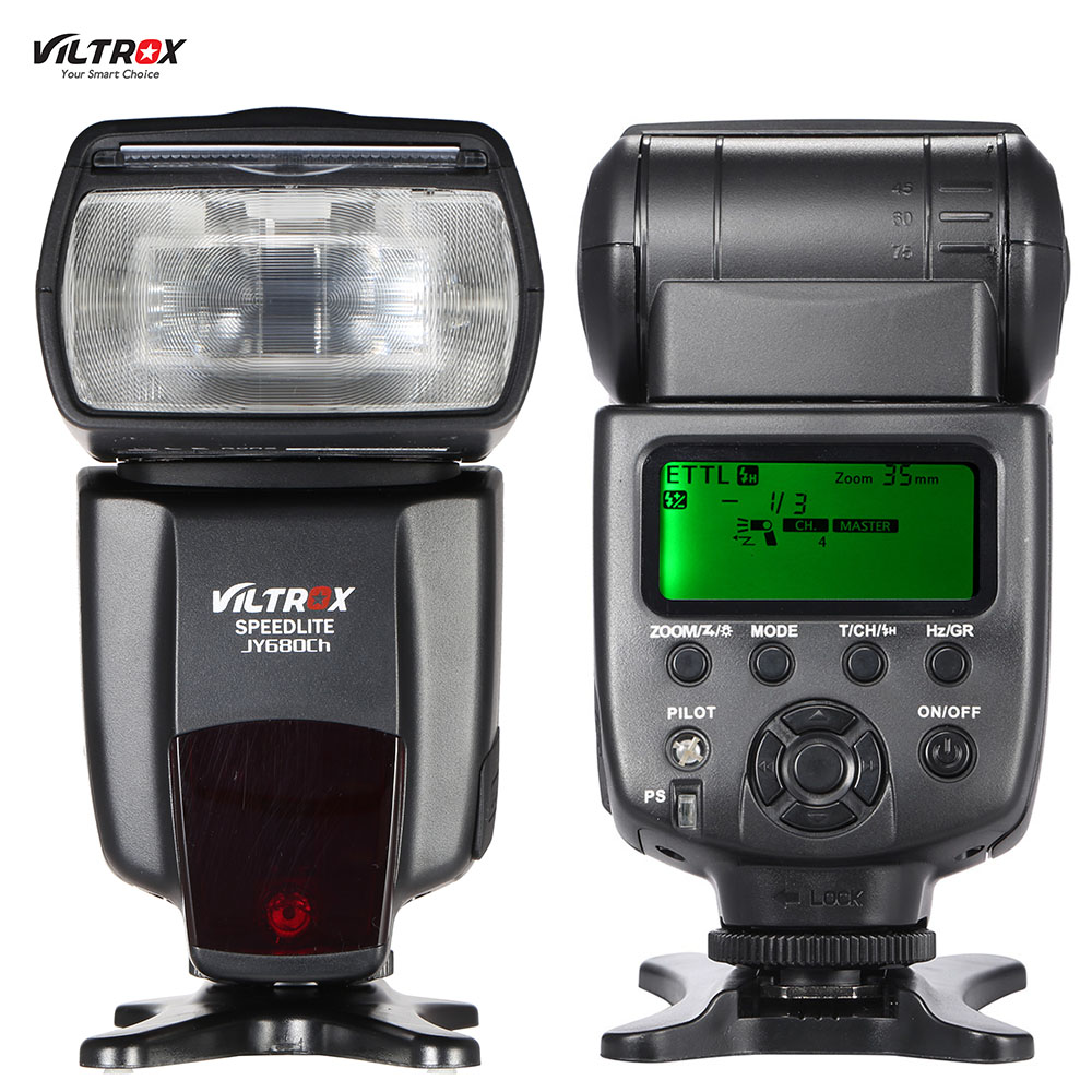 Prix pour Viltrox JY680Ch E-TTL Maître Esclave Auto-foucs Flash Lumière GN58 1/8000 s HSS Speedlite pour Canon EOS 760D 750D 7D2 Rebel T2i/T3i