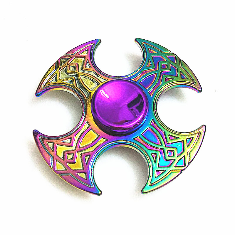 042 High Quality Fidget Spinner Metal Rainbow Dragon Hand Finger Spinners Autism ADHD Focus Anxiety Relief Stress