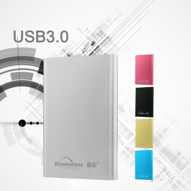 "Aluminum Hd Case HDD Enclosures SATA to USB 3.0 External 1TB Hard Drive Case Enclosure 2.5"" inch hdd box with cable 1piece/lot"