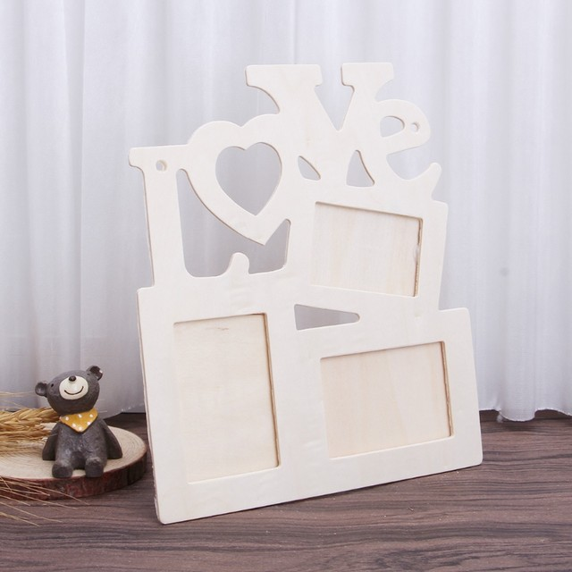 Online Shop OOTDTY Romantic Love DIY Photo Frame Tri Ply Painting ...