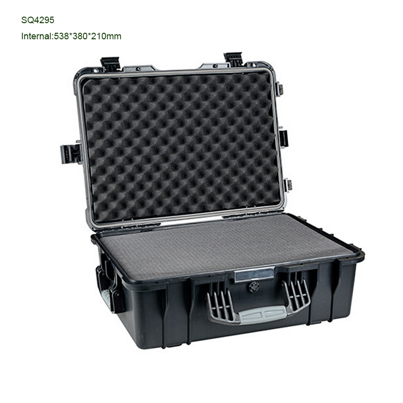 Free Shipping Black Color Watertight Protection Case With Four Latches