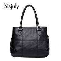 Sisjuly Women Bag 2019 Luxury Handbag Large Capacity Female Bag Famous Designer PU Leather Causal Tote Bag Ladies Messenger Bag