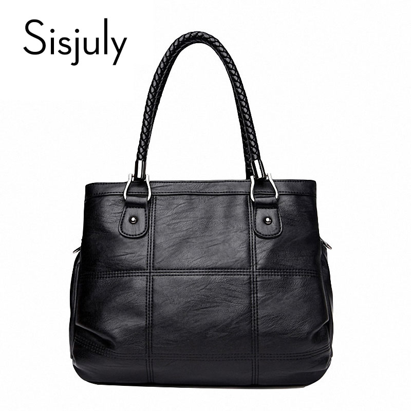 Sisjuly Women Bag 2018 Luxury Handbag Large Capacity Female Bag Famous Designer PU Leather Causal Tote Bag Ladies Messenger Bag children winter coats 2017 kids winter coat solid big collar hooded girls parka down jackets white duck down kids warm outwear
