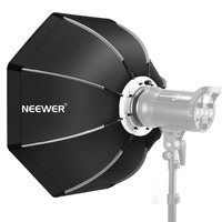 Neewer 26 inches/65cm Foldable Octagonal Softbox with Bowens Mount , Carrying Case for Speedlite Studio Flash Monolight