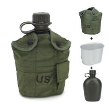 1000ml CoffeeTravel Mug Folding Handgrip PE Sport Outdoor Portable Survival Wild water bottle with Military camouflage bag