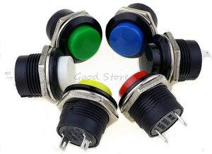 Image 3 - 6 pcs R13 507 רגעי SPST לא אדום שחור לבן צהוב ירוק עגול הכחול שווי כפתור מתג AC 6A/125V 3A/250V 6 צבע