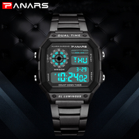 Top Luxury Business Men Watches Digital G style led Watch Shock Alarm 50M Waterproof Swim Sports Stopwatch for Man