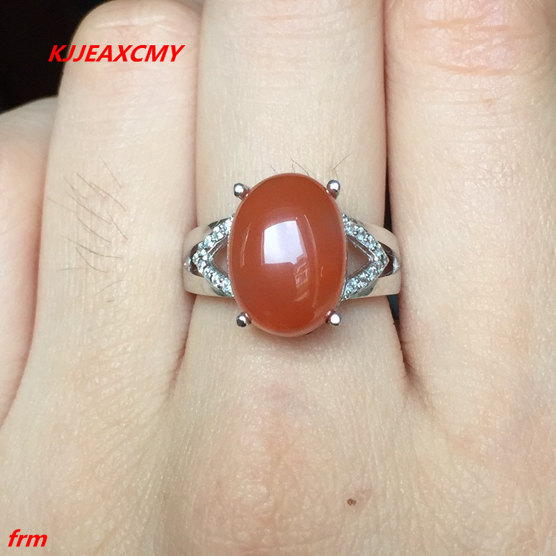KJJEAXCMY Fine jewelry 925 sterling silver natural South Onyx female ring wholesale
