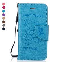 Медведь роскошные кожаные ca s e для iPhone 5 s ca s e iPhone SE 5 ca s e s Защитный флип-чехол для iPhone5 S 5 S 5SE для телефона крышки S