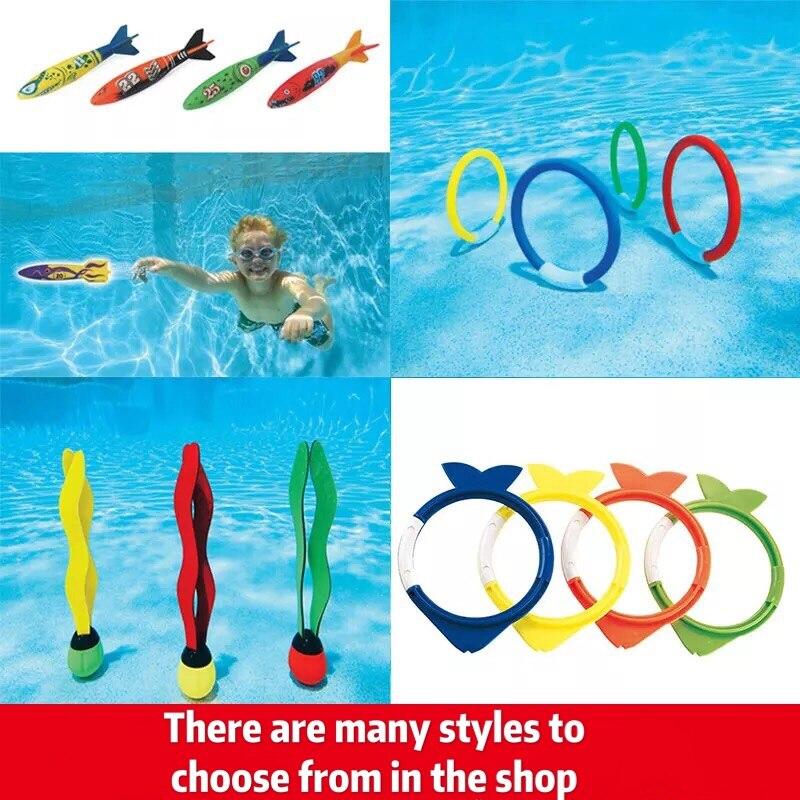 Underwater Swim Pool Diving Toys Summer Swimming Dive Toy Sets Water Rings Mermaid, Deer, Clouds