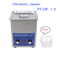 Mechanical control Timer Ultrasonic cleaner PS 08 1.3 L Bath SUS304 for Household glasses jewelry Factory price