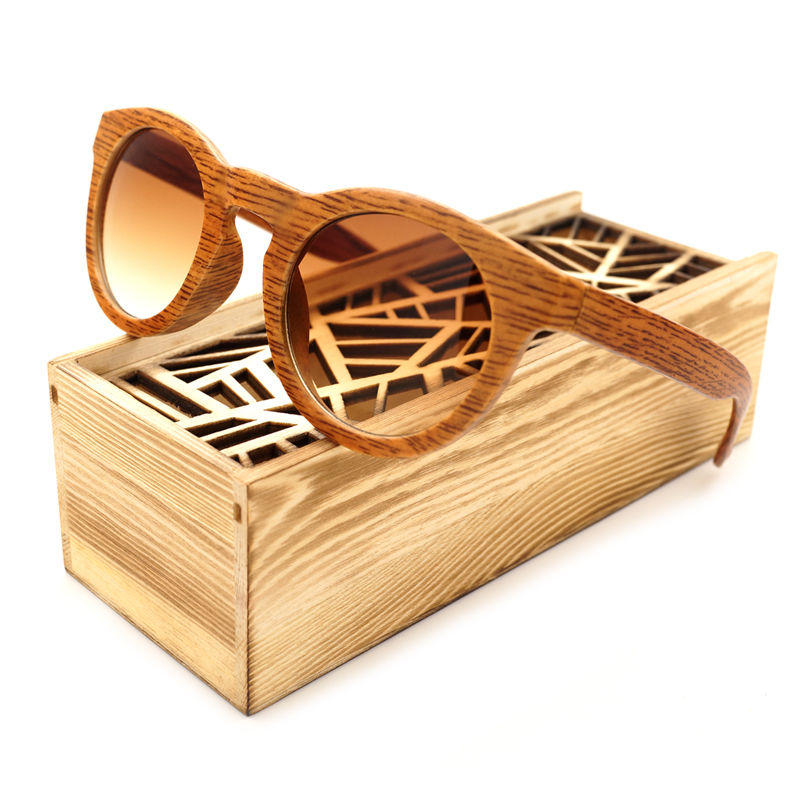 BOBO BIRD Imitation wood Frames Polarized Wood Wooden Mens Womens Vintage Sunglasses Eyewear with box
