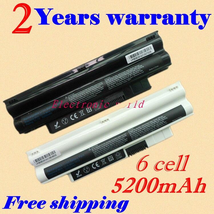 JIGU New 5200mah Laptop Battery 3K4T8 8PY7N 2T6K2 854TJ 312-0966 312-0967 For DELL Inspiron Mini 1012 Netbook 10.1