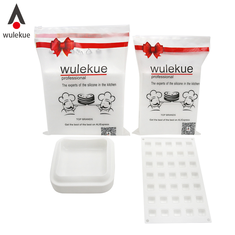 Wulekue Lucky bag Silicone GEM Square Shape Cake Mold For Chocolate Dessert Cakes Mould Decorating Bakeware