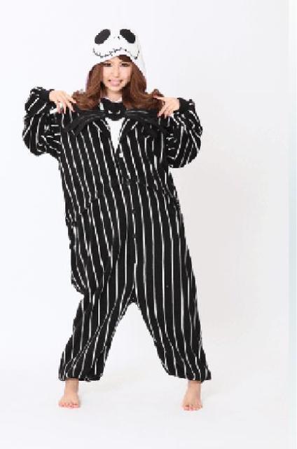 Adult Cool Jack  Pajamas Skull Sleepsuit Halloween Costumes Cosplay for Unisex