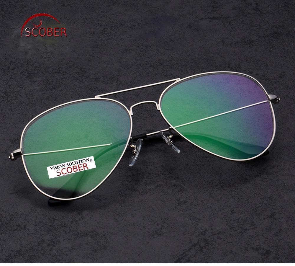 SCOBER Classic Pilot Large Reading Glasses Advanced Alloy font b Fashion b font Spectacles Eyeglasses