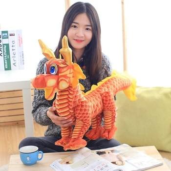 large 80cm red cartoon dragon plush toy doll soft throw pillow birthday gift w2537