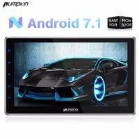 Groothandel! Android 7.1 Twee Din 10.1 Inch Universele Auto Dvd-speler Subwoofer Gps-navigatie Autoradio Wifi 3G Gratis Kaarten Stereo