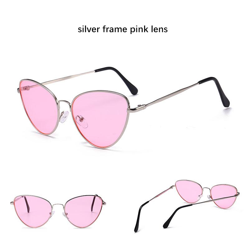 HTB1iZTCSXXXXXboXXXXq6xXFXXXK - Red Cat Eye Transparent Lens Vintage Sunglasses Retro 70s Design
