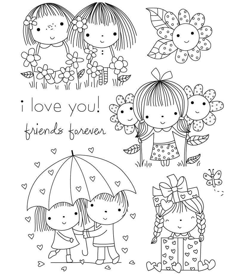 Girls Transparent Clear Silicone Stamp/Seal for DIY scrapbooking/photo album Decorative clear stamp sheets H002