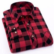 492ffd9ab6 Roja de franela cuadros camisa de los hombres 2019 vestido de moda de los  hombres camisa