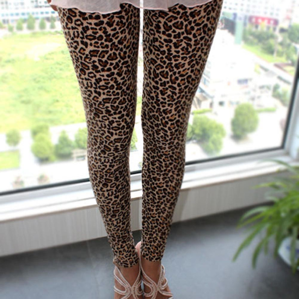 New Fashion Casual Lady Leggings Stylish Sexy Women Girls Leopard Stretch Women Leggings Ninth Pants A1