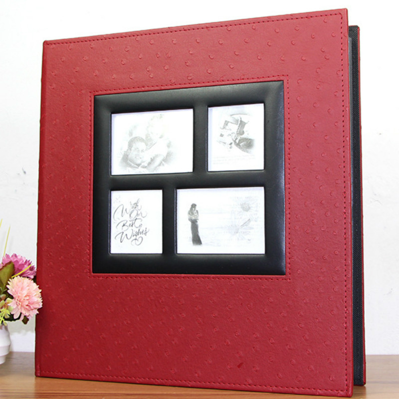 Leer over plastic 6-inch 4R / 4D 600 Pocket fotoalbum Mooie - Huisdecoratie