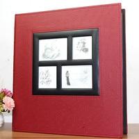 Loose leaf Photo Album Scrapbook 600 Sheets 15.2x10.2cm Photos Albums Interleaf Type Picture Album With PU Leather Albums Cover