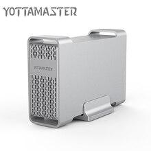 Yottamaster 2,5 дюймов алюминиевая док-станция USB3.0 type-C to SATA3.0 внешний жесткий диск для HDD SSD чехол Корпус