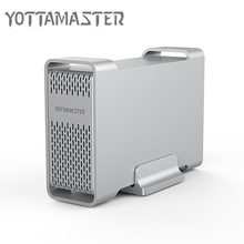 Yottamaster Aluminum 2.5-Inch USB3.0 / Type-C to SATA3.0 Hard Drive Enclosure for 15mm 12.5mm 9.5mm 7mm HDD SSD