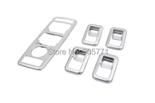 High Quality Matte Silver Side Window Panel Master Switch Decorate Trim Styling for Mercedes Benz W212 E Class 10