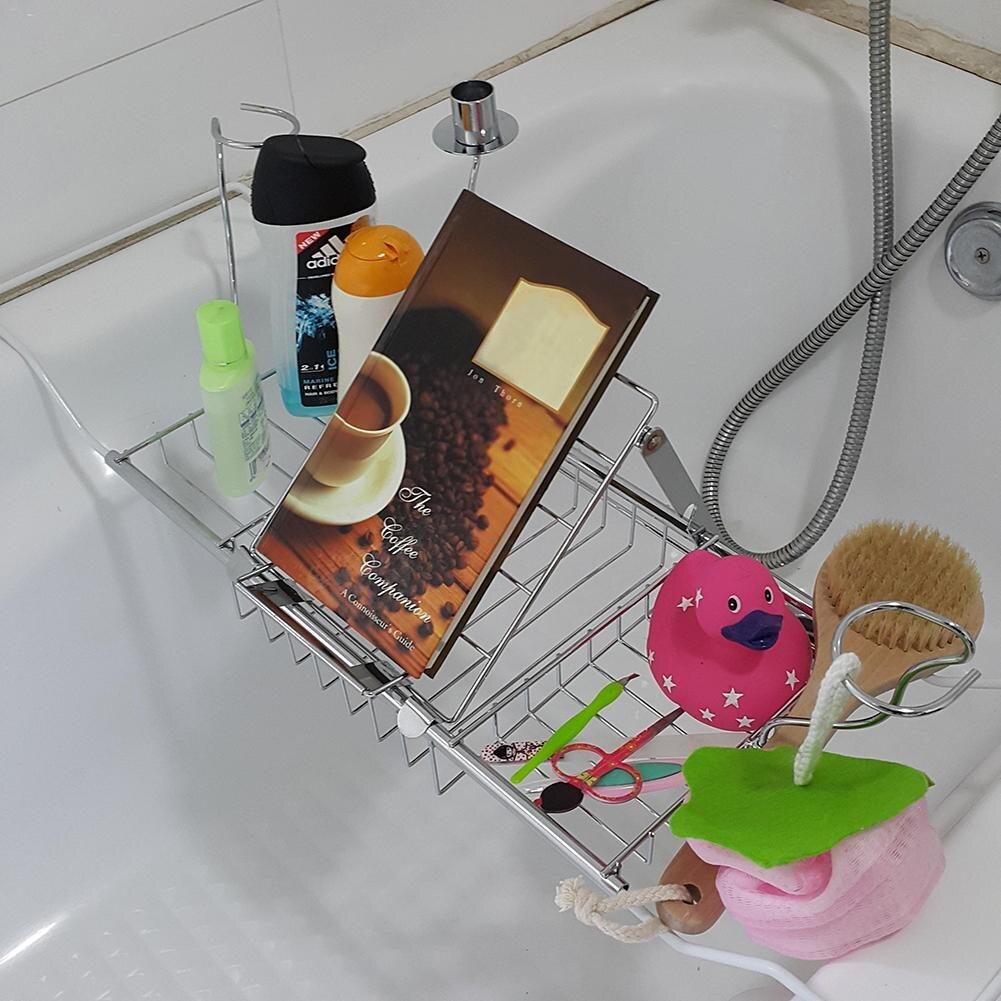 Hot Sale Bathtub Tray Shower Shelf Storage Chrome bath tub tray Wine ...