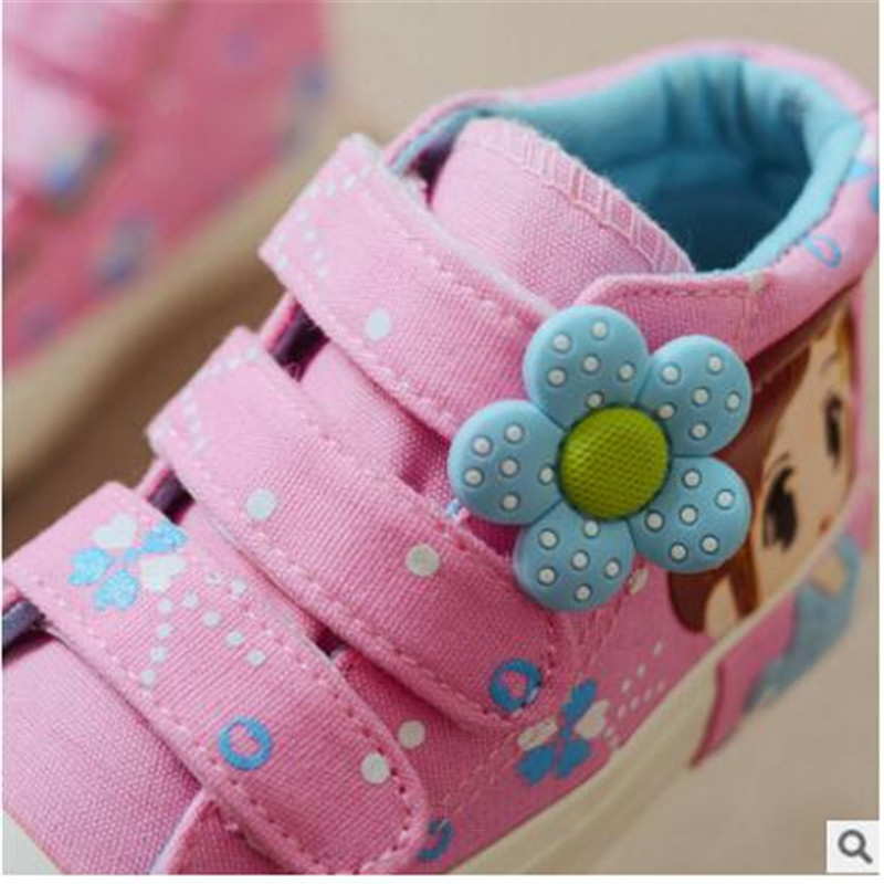 Children s shoes Girls shoes 2018 Spring new princess children s canvas shoes magic stick children s shoes