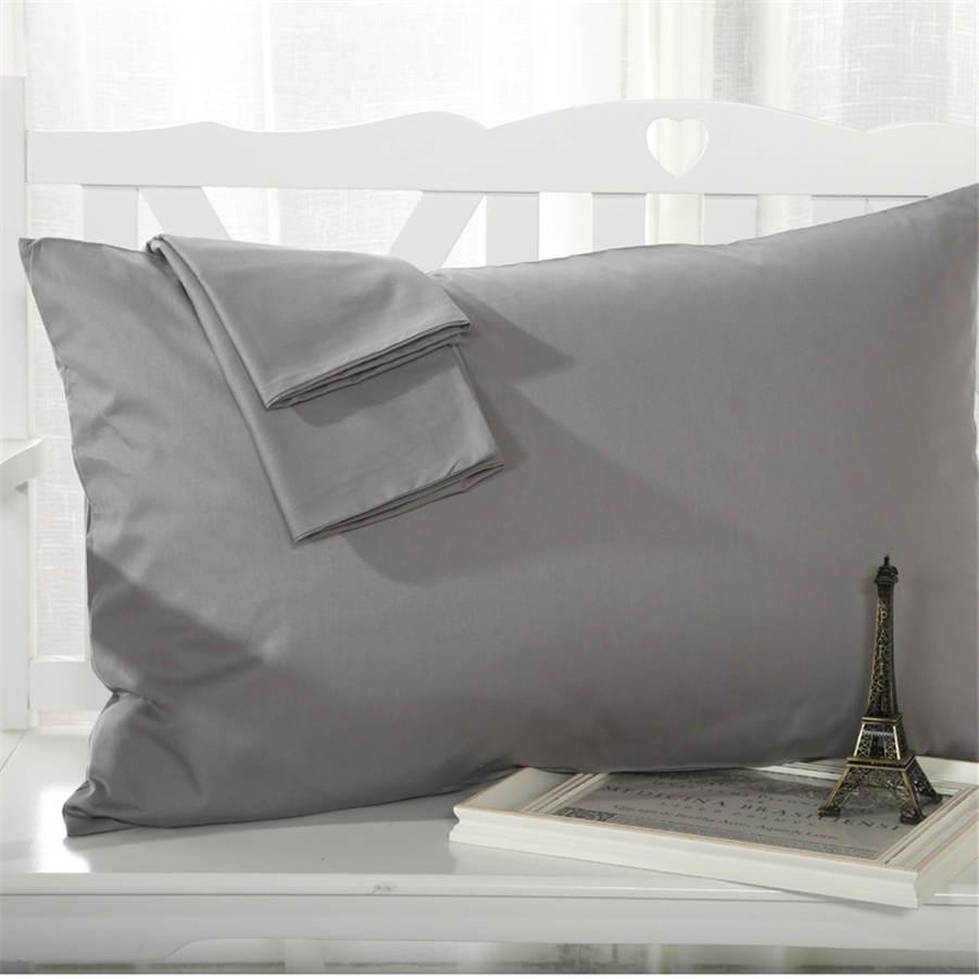 100% Cotton Envelope Pillow Cases Solid Color Soft Comfortable Pillow Covers Home Textile Bedding 48 x 74 Cm|envelope pillow case|pillow case|pillow cover -